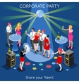 Team Party 01 People Isometric vector image vector image
