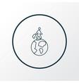 travelling icon line symbol premium quality vector image vector image