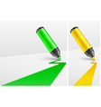 two felt tip pens vector image vector image