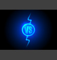 versus icon vs letters is into round circle vector image