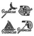 vintage barbecue emblems vector image vector image