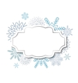 Winter vintage label on snowflakes background vector image vector image
