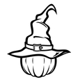 WITCH hatBW resize vector image vector image