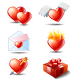 couple icons set vector image