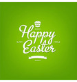 Happy Easter Green Card vector image