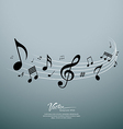 Musical notes design background vector image