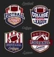 Set of football college league badge logo vector image