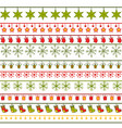 christmas stripe ribbons pattern vector image