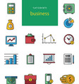 collection of flat and colorful web icons vector image