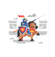 knight on horseback character vector image