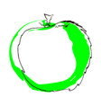 a green apple isolated on white vector image vector image