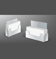 acrylic business card holder glass plastic display vector image vector image