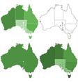 Australia maps vector image vector image