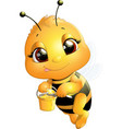 bee on a white background vector image vector image