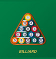 billiard or snoker background good design vector image vector image