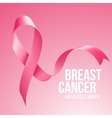 Breast Cancer Awareness Ribbon Background vector image vector image