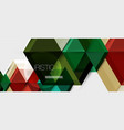 bright color hexagon geometrical composition vector image vector image
