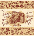 Camera background vector image