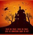 cartoon halloween festive poster vector image vector image