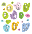 Cats - Freehand drawings vector image vector image