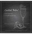 Cocktail belini on black board vector image vector image