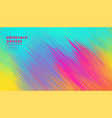colorful diagonal lines abstract background vector image