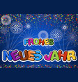 colorful happy new year greeting on blue vector image
