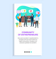 community entrepreneurs on business meeting vector image vector image