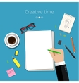 Concept for sketching ideas vector image vector image