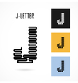 Creative J - letter icon abstract logo design vector image