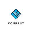 creative square logo design templatefloor logo vector image vector image