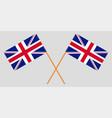 crossed desktop flags great britain vector image