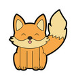 cute fox cartoon vector image vector image