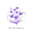 decorative bouquet violet flowers vector image vector image