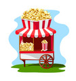 delicious and bright popcorn shop vector image