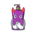 devil shampo mascot cartoon style vector image vector image