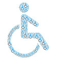 disabled person icon figure vector image vector image