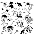 Doodle Halloween for kids vector image vector image