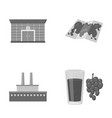 finance oil refinery and other monochrome icon in vector image vector image