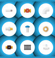 flat icon industry set of roll pump valve tap vector image vector image
