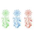 flower filigree decorative for vector image