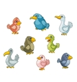 Funny cartoon birds vector image