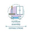 furniture assembly concept icon home service idea
