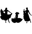 girl in gipsy skirt vector image