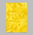 golden geometrical mosaic floral page background vector image vector image