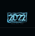 happy new year 2022 numbers realistic blue vector image