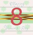 happy women day violet 8 march papercut multi vector image