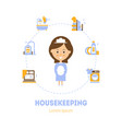 housekeeping banner template maid service vector image vector image