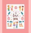 i love you poster banner vector image vector image
