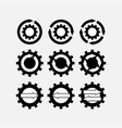 icons gear tuning mechanisms vector image vector image